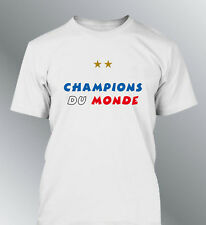Tee shirt homme FRANCE champions foot coupe monde football 1998-2018 championne