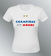 Tee shirt femme FRANCE champions foot coupe monde football 1998-2018 championne