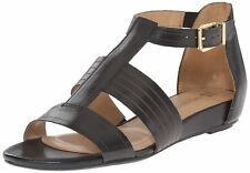 Naturalizer Womens Longing Leather Open Toe Casual T-Strap Sandals