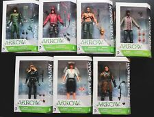 DC ARROW TV SERIES ACTION FIGURES ARSENAL BLACK CANARY MERLYN QUEEN DIGGLE SMOAK