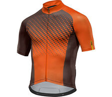 Mavic Crossmax XM Elite Manica Corta Maglia Bici MTB / Bike Braun-Orange%%%