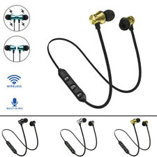 Bluetooth Stereo Earphone Headset Wireless Earbuds Magnetic In-Ear  Headphone BE