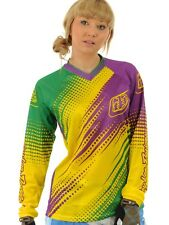 Maglia motocross Donna Troy Lee Designs 2012 GP Air Verde-Porpora