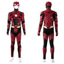 2017 The Flash Justice League Barry Allen Ezra Miller Costume Cosplay Full Set