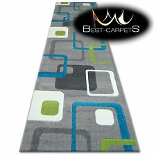CHEMIN DE TABLE Tapis, FOCUS F240 turquoise, moderne, Escaliers largeur 70cm -