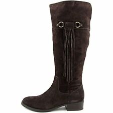 INC International Concepts Womens FAYER Suede Almond Toe Knee High Riding Boots