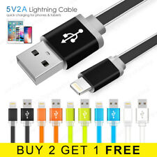 1M 2M Flat Lightning Cable Fast Charge 8 Pin iPhone iPad Charger Data Lead Wire