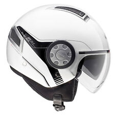 GIVI CASCO AIR JET 11.1 BIANCO MOTO SCOOTER HELMET WHITE DOBLE VISERA