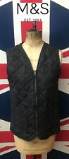 Marks & Spencer Womens Tweed Check Sandwhich  Fashion Gilet Waistcoat Quilted