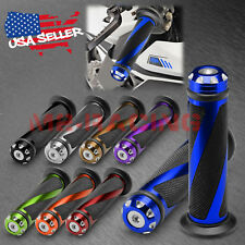 "Motorcycle Hand Grips Rubber 7/8"" Handle Bar For Honda Suzuki Kawasaki Yamaha 01"