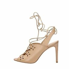 Michael Kors Womens Thalia Leather Peep Toe Special Occasion Strappy Sandals