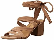 Lucky Brand Womens Idalina Leather Open Toe Casual Slide Sandals