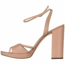 Michael Kors Womens Yoonie Leather Open Toe Casual Ankle Strap Sandals