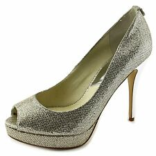 Michael Kors Womens York Platform Peep Toe Classic Pumps