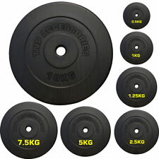 "TnP® Vinyl 1"" Weight Plates for Dumbbells & Weights Lifting Bars 0.5kg to 20kg"
