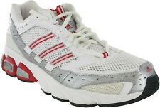 Adidas Running Athletic Sports Fitness Mens Lace Up Mesh White Trainers Shoes