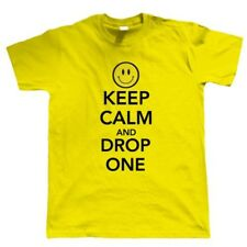 Keep Calm And Drop One, Camiseta Hombre, Old Skool Dj Rave Festival