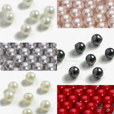 2x 6x Half-drilled Round Sea Shell MAJORICA Pearls for making Earrings Pendant