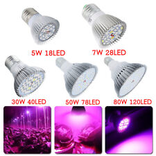 E27 5-80 W LED Grow Light Growing Bulb Lamp Plant Seed Full Spectrum Hydroponic
