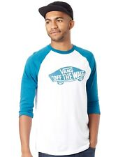 T-Shirt raglan Vans Off The Wall Bianco-Corsair