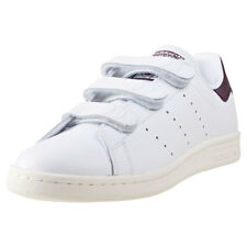 adidas Stan Smith Cf Mens White Burgundy Leather Trainers