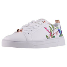 Ted Baker Ahfira Womens White Multicolour Textile & Leather Trainers