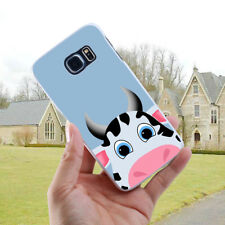LX_ Cow Printed Back Cover Case for Samsung Galaxy S6 S7 S8 Edge Plus A5 J7 Ho