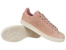 1a19b462e1cd Women adidas Originals Stan Smith Shoes Trainers Pink Leather Suede Shoes