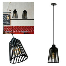 Vintage Industrial Metal Cage Wire Frame Loft Ceiling Pendant Light Lamp Shades