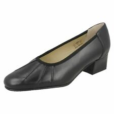 Ladies Equity Low Heel Wide Fitting Court Shoes - Lucinda