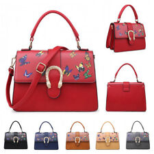 Womens Butterfly Faux Leather Crossbody Handbag Satchel Messenger Shoulder Bag