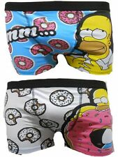 The Simpsons Homer Mens Boxer Trunks Dos Paquetes