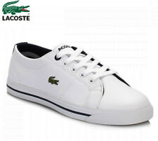 LACOSTE KIDS BOYS GIRLS MARCEL 117 1 CAC WHITE NAVY BLUE TRAINERS Shoes 10-13