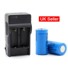 Dual Slots Battery Charger For Rechargeable 16340 1200mAh Li-ion Cell 3.7V SUN
