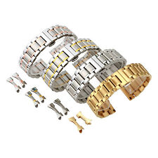 Solid Stainless Steel Replacement Watch Band Strap Bracelet Curved End 18mm-22mm