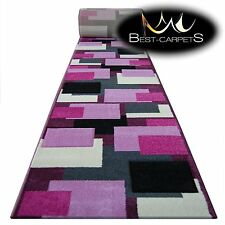 Chemin de Table Tapis,Pilly 8404 Violet / Rose Moderne Escaliers Largeur 70-120