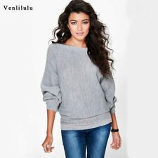 Autumn Knitted Sweaters Women Winter Sweater Female Sexy Loose Sweater Warm