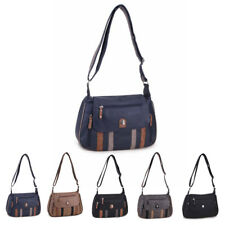 Womens Multi Pocket Faux Leather Flap Crossbody Handbag Messenger Shoulder Bag