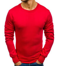 Pull col rond pour homme Pull M125 rouge
