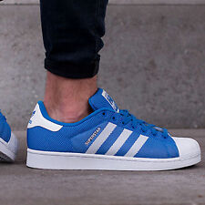 adidas Originals Mens Superstar Trainers Bluebird/White/Bluebird