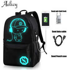 Aelicy Boys Girl School Backpack Student Luminous Animation USB Charge