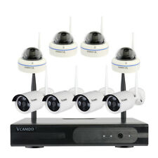 8CH Outdoor Wireless Cameras CCTV Home Security Camera System w/o Hard Drive