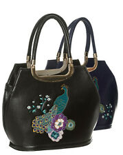 Dancing Days de Banned Pavo Real Floral Vintage 50s Bolso para Mujer