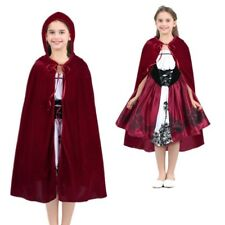 Girl Little Red Riding Hooded Cosplay Costume Halloween Fancy Dress Cloak Outfit