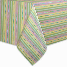 Fabric Tablecloth Garden Stripe Pastel Colors New Choose Size