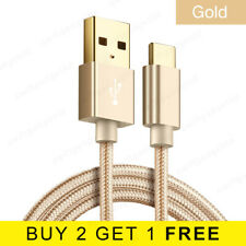 Braided USB Type C Cable USB-C Fast Data Phone Charger USB 3.1 Lead Wire - Gold