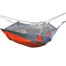 Double Outdoor Trip Hiking Camping Hammock Hanging Bed With Mosquito Net Bed
