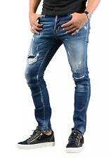 DSQUARED2 - S74LB0418 zip back pocket ripped cool guy jeans in blue