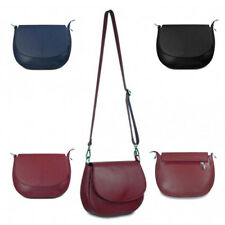 Womens Flap  Italian Leather Clutch Crossbody Handbag Messenger Shoulder Bag