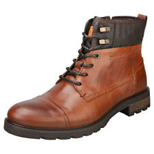 Tommy Hilfiger Winter Mens Cognac Leather Boots
